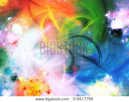 Abstract Chaotic Fractal Background 3D Rendering Illustration