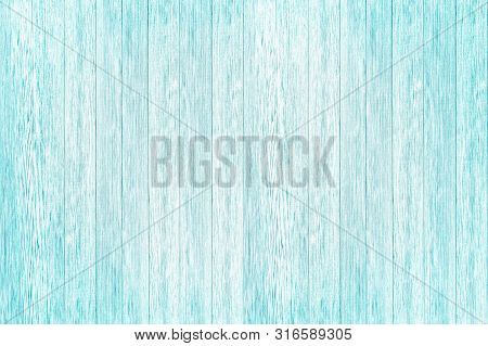 Light Blue Plank Texture Of Wood Table. Trendy Pastel Coloured Background. Blue Wood Background. Rus
