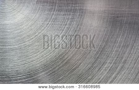 Aluminium Texture Or Background Closeup And Gradients Shadow