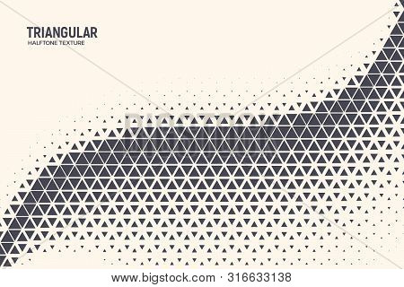 Triangle Shapes Vector Abstract Geometric Technology Oscillation Wave Isolated On Light Background.
