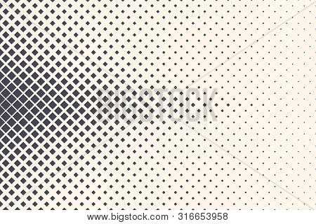 Rhombus Vector Abstract Geometric Technologic Structure Isolated On Light Background. Halftone Squar