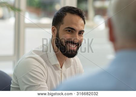 Portrait Of Handsome Man That Demonstrating His Smile