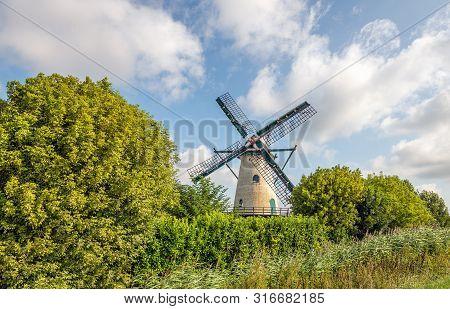 De Jager Is A Flour Mill Near The Village Of Oud-vossemeer On The Former Island Of Tholen, Zeeland,