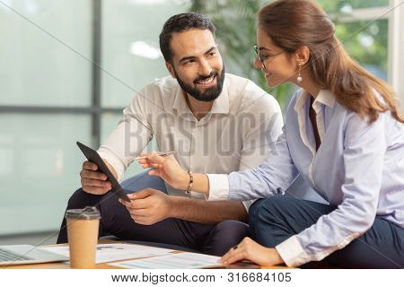 Handsome Bearded Male Person Looking At His Partner