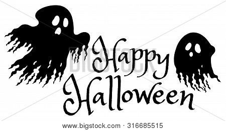 Happy Halloween Sign Concept Image 1 - Eps10 Vector Picture Illustration.