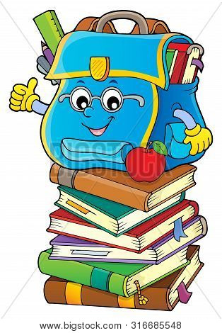 Happy Schoolbag Topic Image 5 - Eps10 Vector Picture Illustration.