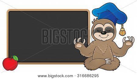 Sloth Teacher Theme Image 2 - Eps10 Vector Picture Illustration.