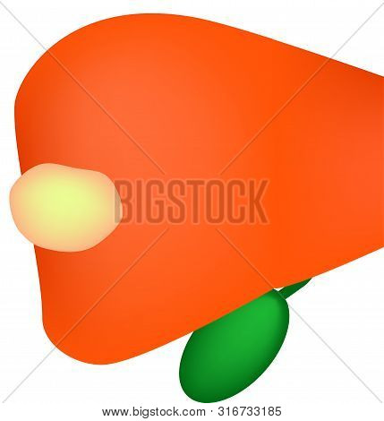 A Cyst In The Liver. The Liver Is Affected Cyst. Vector Illustration On Isolated Background