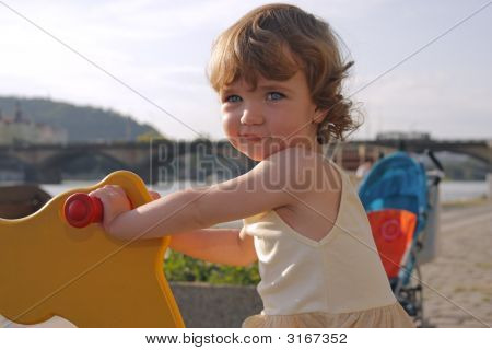 Playful Girl Rocking