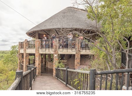 Kruger National Park, South Africa - May 11, 2019: Viewing Deck At The Restaurant In The Mopani Rest