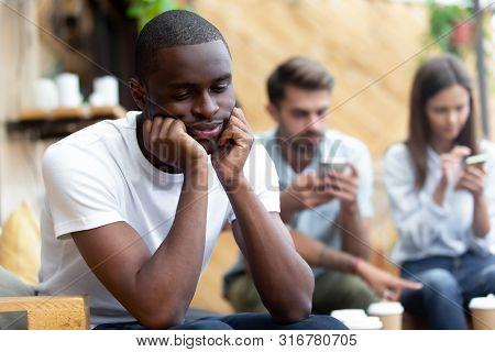 Lonely Black Male Outcast Feel Sad Lack Communication