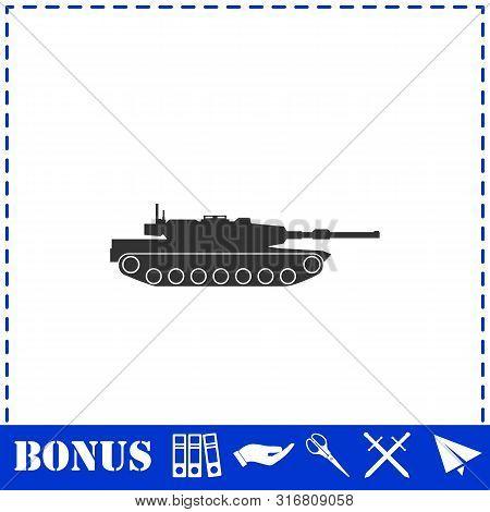 Tank Icon Flat. Simple Vector Symbol And Bonus Icon