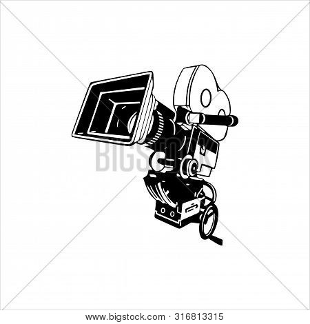Photo Camera Icon On White Background, Photo Camera Icon, Photo Camera Vector Icon, Eps Photo Camera