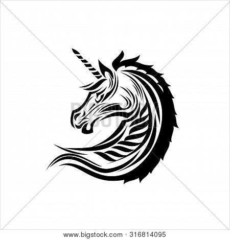 Isolated Pegasus Icon On A White Background. Fantastic Character Collection. Pegasus Flat Vector Ill