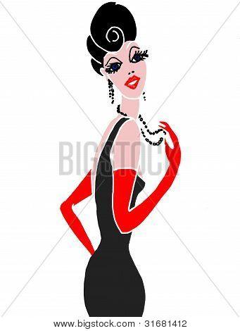 elegant stylish fashion model