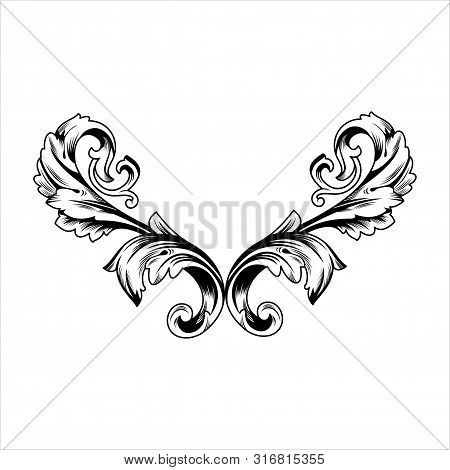 Indonesian Flat Vector Carving, Outline Illustration. Flat Vector Carvings For Graphic And Web Desig