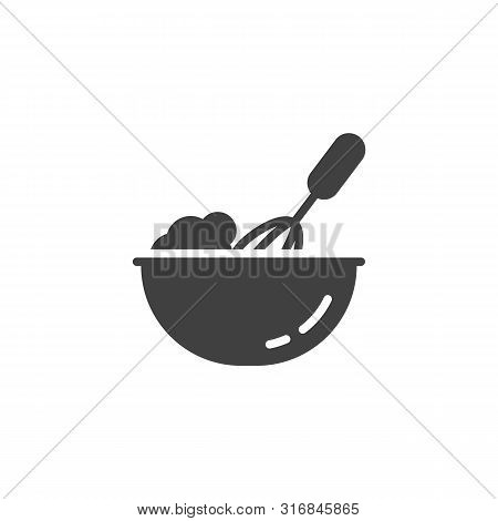 Cooking Process Vector Icon. Beating With Hand Mixer Filled Flat Sign For Mobile Concept And Web Des