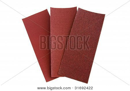 three sandpaper
