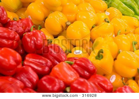 Peppers At The Grocery Store