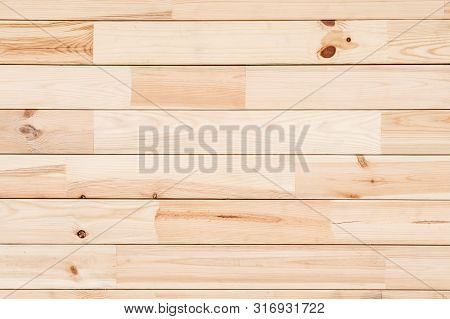 Wood Glued Timber Plank Close Up Background. Wooden Construction Glued Laminated Timber In The Wall