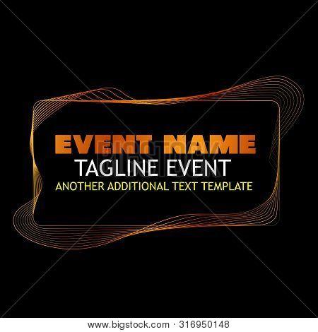 Vector, Abstract Frame Or Borderline, Golden 8 Wave Line For Element Design Of Certificate, Banner,