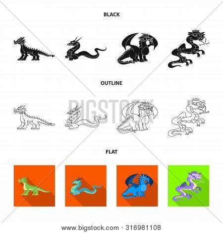 Vector Design Of Legend And Halloween Logo. Set Of Legend And History Vector Icon For Stock.