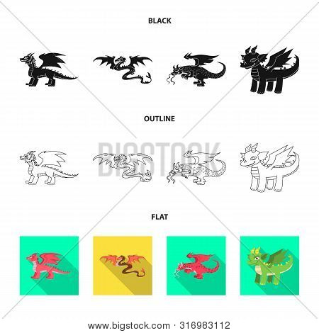 Isolated Object Of Legend And Halloween Logo. Collection Of Legend And History Stock Vector Illustra