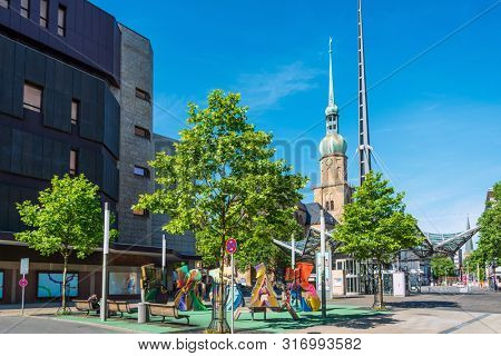 DORTMUND, GERMANY - June 9, 2019: Marienkirche (St. Mary's Church) is a church in Dortmund, Germany