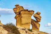 View of the Erosions of Bolnuevo, Las Gredas, Mazarron. Murcia, Spain poster