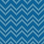 Close up chevron stripes christmas knit geometric seamless pattern. Blanket knitwear fabric print. Scandinavian style seamless knitted pattern. Repeatable background. poster