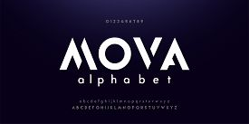 Abstract Digital Modern Alphabet Fonts. Typography Technology Electronic Dance Music Future Creative