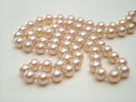 Pearls On White