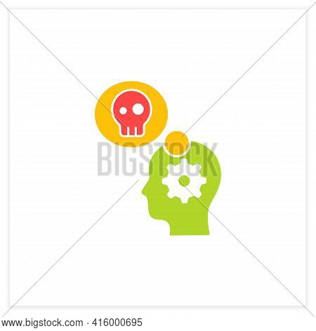 Stress Management Flat Icon.controlling Person Stress Level. Avoid Stressful Situations. Conflict Ma