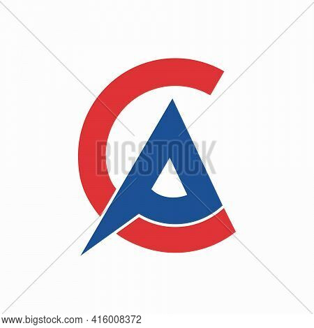 Letter Ca And Ac Logo Design Vector Template