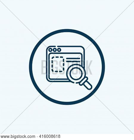 Research Icon Isolated On White Background. Research Icon Thin Line Outline Linear Research Symbol F