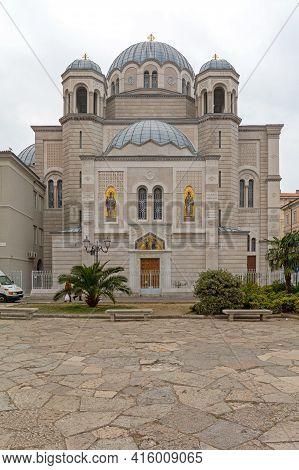 Trieste, Italy - January 12, 2017: Serbian Orthodox Christian Church Of Saint Spyridon In Trieste, I