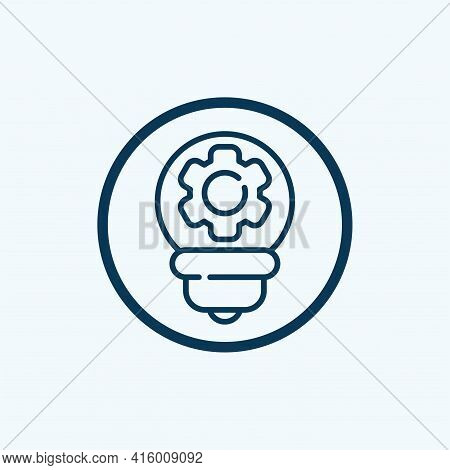 Idea Icon Isolated On White Background From Education Collection. Idea Icon Thin Line Outline Linear