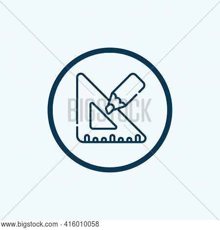 Drawing Icon Isolated On White Background From Graphic Design Collection. Drawing Icon Thin Line Out