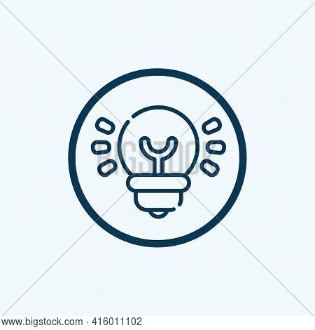 Idea Icon Isolated On White Background From Digital Marketing Collection. Idea Icon Trendy And Moder