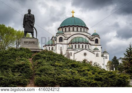 Saint Sava Church, One Of The World's Biggest Orthodox Christian Churches, And Monument Dedicated To