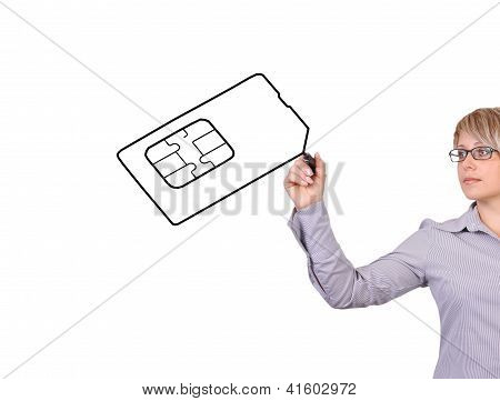 Drawing Simcard