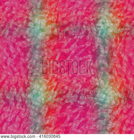 Horizontal Blurry Ombre Blend Textured Stripe Background. Variegated Pastel Line Melange Seamless Pa
