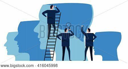 Capacity Building Growth Mindset Training Put Knowledge Into Brain Businessman Corporate Company Lea