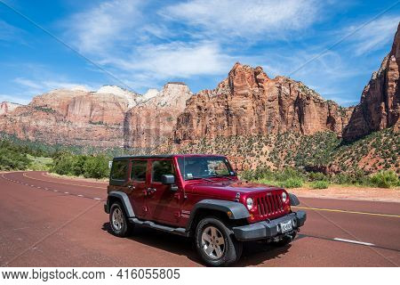 The Famous Off-road Jeep Vehicle In St George, Utah