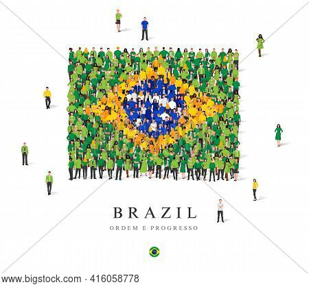 A Large Group Of People Are Standing In Green, Yellow, Blue And White Robes, Symbolizing The Flag Of