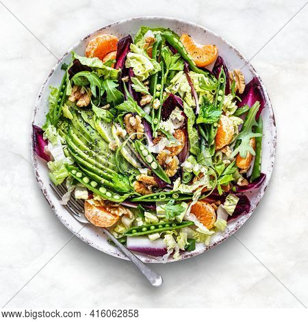 Keto salad with superfood healthy lifestyle