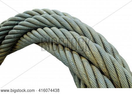 Industrial Giant Metal Sling Wire, Spiral Wire Sling For Use In Towing And Lifting Large Items That