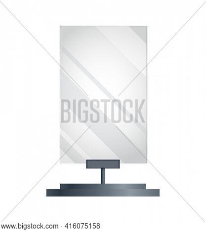 Blank billboard advertising. Advertising constructions or outdoor billboard. Marketing  icon. Banner design template