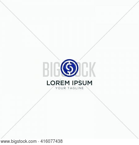 Simple S Logo Coin Crypto Logo Modern Currency Modern