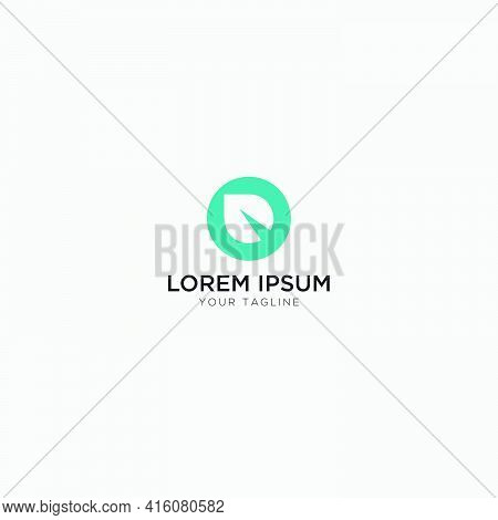 Abstract Leaf And D Letter Logo Design